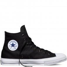 Кеды Converse All Star II высокие черно-белые купить