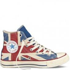 Кеды Converse All Star высокие с британским флагом