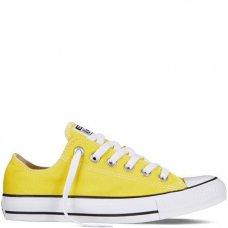 Желтые низкие кеды Конверс женские